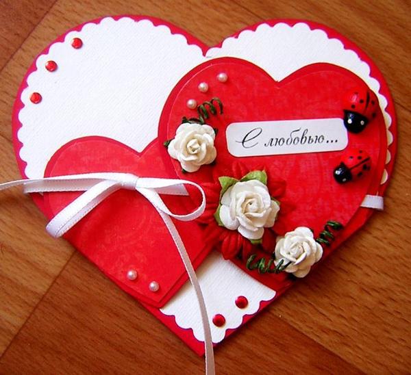 Открытки с сердечками мк